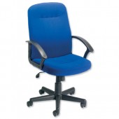 Trexus High Back Manager Armchair W500xD480xH465-580mm Backrest H620mm Blue Ref 517059
