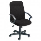 Trexus High Back Manager Armchair W500xD480xH465-580mm Backrest H620mm Charcoal Ref 517067