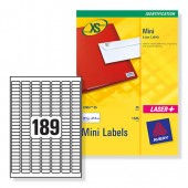 Avery Labels 189TV Mini Inkjet J8658-25
