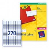 Avery Labels 270TV Mini Inkjet J8659-25