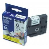 BrotherPtouch TZE8mtp6mm Blk/wht TZE211