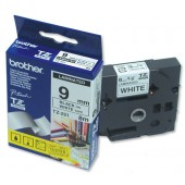 BrotherPtouch TZE8mtp9mm Blk/wht TZE221