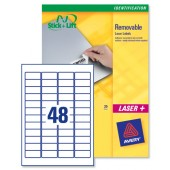 Avery Labels Remov47.5x21.2mmL4736REV-25