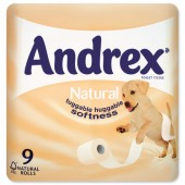 Andrex Toilet Rolls Honey Pk9 M02078