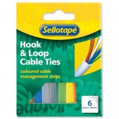 S/tape Colourd CableTies Pk6 504096
