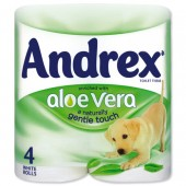 Andrex Tlet Rls Wht AloeVera Pk4 M02073