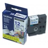 BrotherPtouch TZE8mtp12mm Blu/Wht TZE233