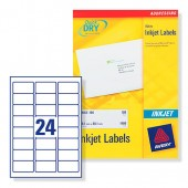 Avery Labels Address Inkjet Wht J8159-25
