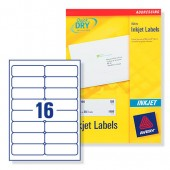 Avery Labels Address Inkjet Wht J8162-25