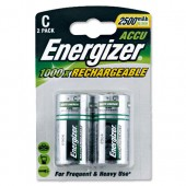 &Energizer Recharge Battery C Pk2 633001