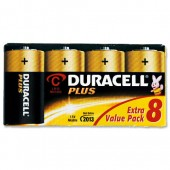 Duracell Plus Power C Battery Pkd8