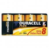 Duracell Plus Power D Battery Pkd8