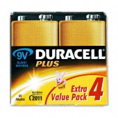 Duracell Plus Power 9V Battery Pkd4