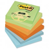 Post-it rainbow Rcyc 76x76mm pk12 654