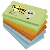 Post-it rainbow Rcyc 76x127mm pk12 655