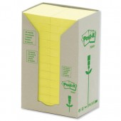 Post-it Rcyc carton Ylw  Pk24 653- 1T