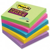 Super sticky Ultra Colrs 76x76 Pk12 654