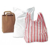 Polythene Carrier Bag White Plain Pk500
