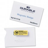 Durable Magnetic NameBadge Pk25 8117