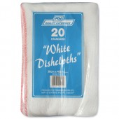 RY White Dish Cloths PK20