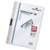 &Durable Duraclip Fldr 3mm Wht PK25 /02