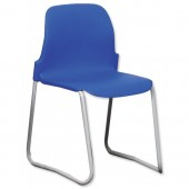 4*Trexus Polyprop Skid 430mm Chair Blue
