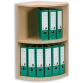 &Rotadex Two Tier Light Oak Corner Unit