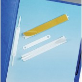 Durable S/Adhesive File FastenerWht Pk10