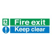 Fire Exit Keep Clear SP055PVC
