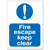 Fire Escape Keep Clear M025SAV