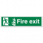 Fire Exit Man Running Left SP083PVC