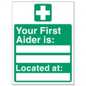 Your First Aider Is Located At SP049PVC