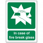&In Case Of Fire Break Glass SP074SAV