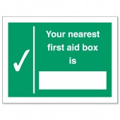 Your Nearest First Aid Box Is SP075PVC