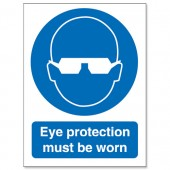 Eye Protection Must Be Worn M004SAV