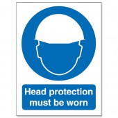 &Head Protection Must Be Worn M005SAV