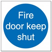 Fire Door Keep Shut Pk5 M014PVC