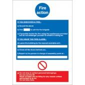 Fire Action M011PVC