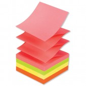Post It Note Neon 6R/bw 3x3 R330NR Pk6