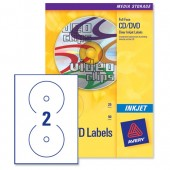 Avery Labels Cd Clear InkJet J8570-25