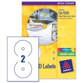 Avery Laser Labels CD Clear L7760-25
