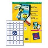 Avery Neon Mini Labels Yellow L7651Y-25