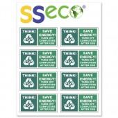 &SSeco Computer Stickers 46x23 Pk8 ENV02
