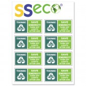 &SSeco Light Stickers 46x23mm Pk8 ENV03