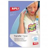 Apli TransferPaper White TShirts A4 Pk10