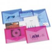 Rexel Ice A4 Popper Wlt ID Trans Blu