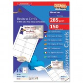Decadry Bright Wht Bus Cards 285g Pk150