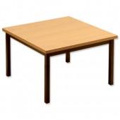 #Trexus Metal Recep Table L/Oak PS1030