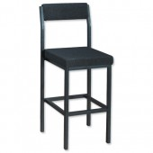 Trexus High Stool with back Char PS4044