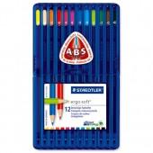 Staedtler Ergsft ClrdPcil Ast12 157Sb12